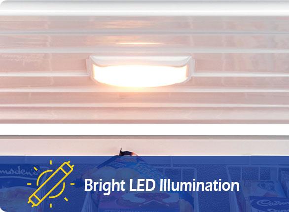 Bright LED Illumination   NW-BD100-150-200 storage chest freezer