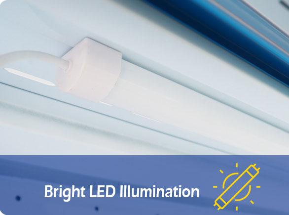 Bright LED Illumination | NW-BLF1080 vegetable showcase
