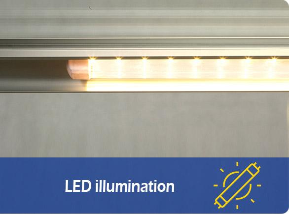 LED illumination | NW-CVF90-120-150-180-210 glass cake display case