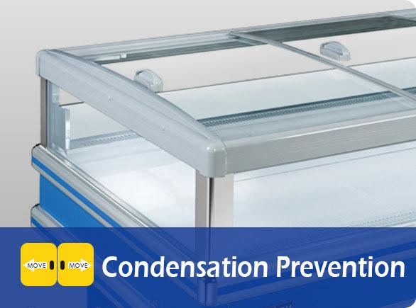 Condensation Prevention | NW-DG20-25-30 island freezer