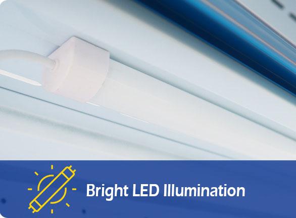 Bright LED Illumination | NW-DG20-25-30 ventilated island freezer