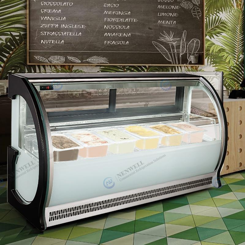 Countertop Ice Cream Deep Frozen Storage Display Freezer Cases