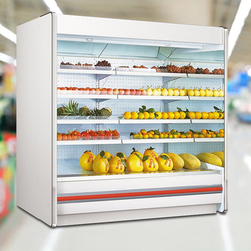 Supermarket Remote Multideck Turbo Open Air Curtain Display Merchandiser Chillers