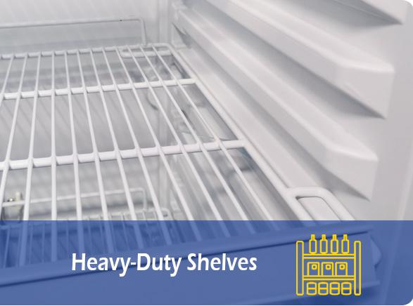 Heavy-Duty Shelves   NW-LG232B-282B-332B-382B glass door chiller fridge