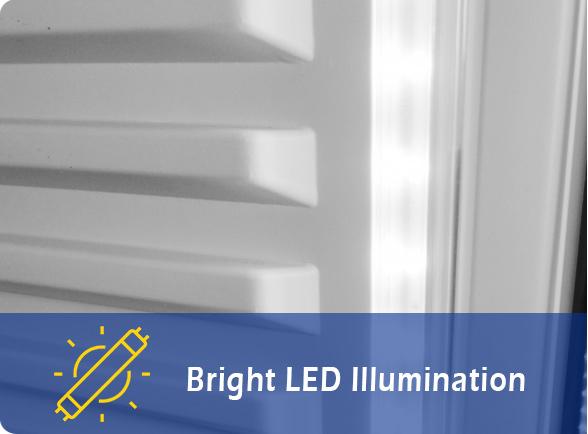 Bright LED Illumination   NW-LG232B-282B-332B-382B single door display chiller