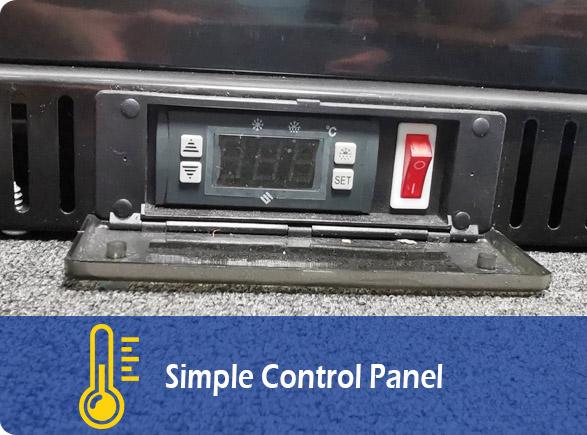 Simple Control Panel | NW-LG252DF-302DF-352DF-402DF upright drinks fridge