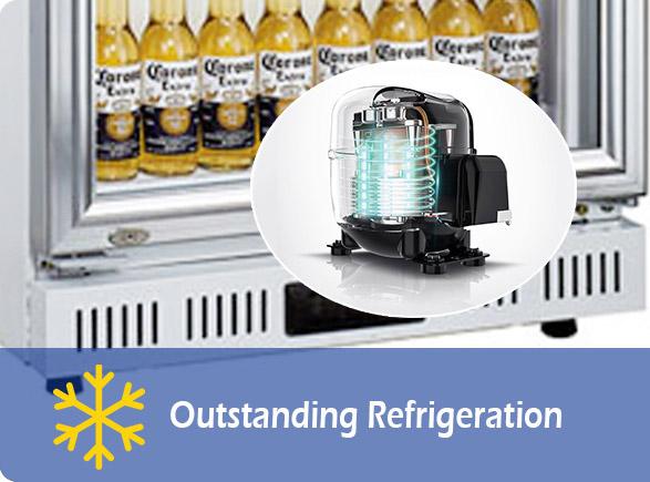 Outstanding Refrigeration | NW-LG252DF-302DF-352DF-402DF upright drinks fridge