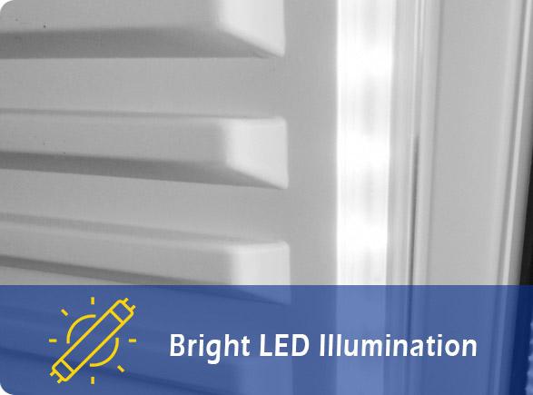 Bright LED Illumination | NW-LG252DF-302DF-352DF-402DF drinks display fridge