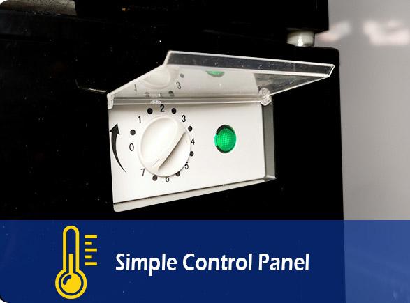 Simple Control Panel   NW-LG268F-300F-350F-430F-660F single glass door upright showcase