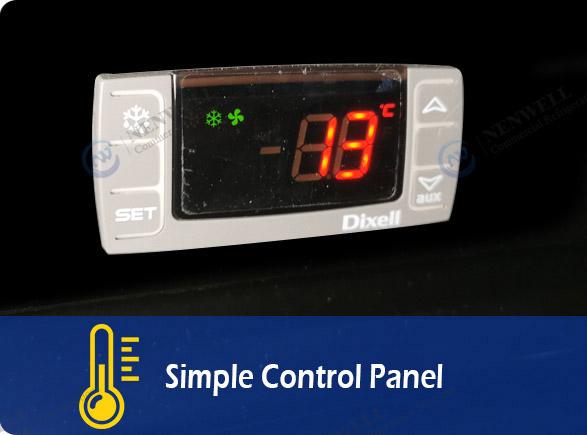 Simple Control Panel   NW-LG800PFS-1000PFS glass sliding door fridge