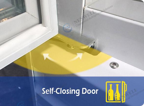 Self-Closing Door   NW-LG800PFS-1000PFS double sliding door display fridge