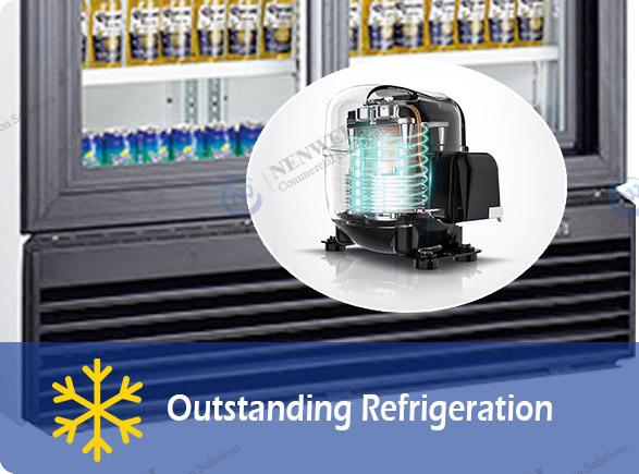 Outstanding Refrigeration   NW-LG800PFS-1000PFS double sliding door beer fridge