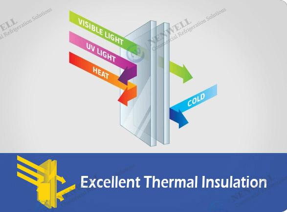 Excellent Thermal Insulation   NW-LG800PFS-1000PFS sliding double door fridge
