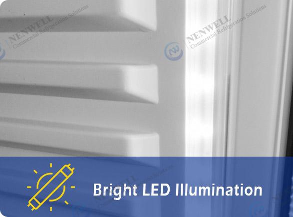 Bright LED Illumination   NW-LG800PFS-1000PFS double sliding door display fridge