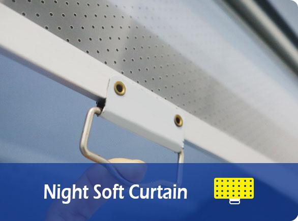 Night Soft Curtain | NW-PBG20B fruit and vegetable fridge