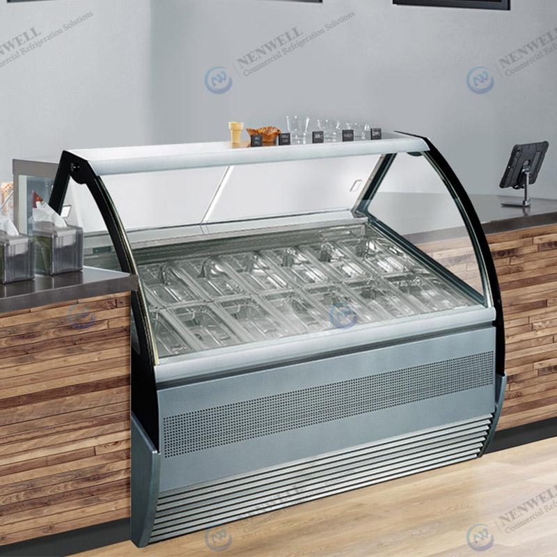 Commercial Small Ice Cream Display Fridge Showcase