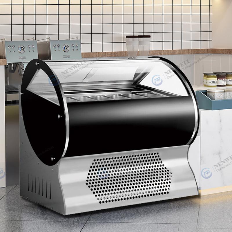 Ice Cream Retail Shop Gelato Display Freezer Case And Refrigerator