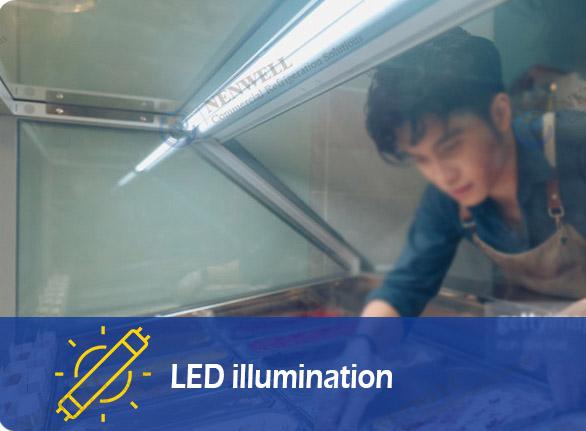 LED illumination | NW-QW8 retail ice cream freezer