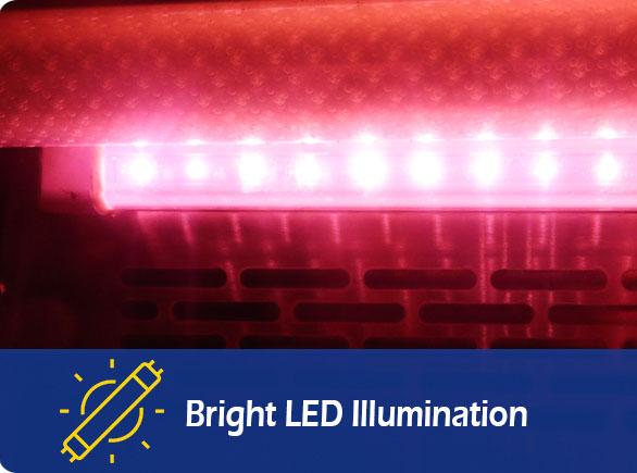 Bright LED Illumination | NW-RG20C meat refrigerator