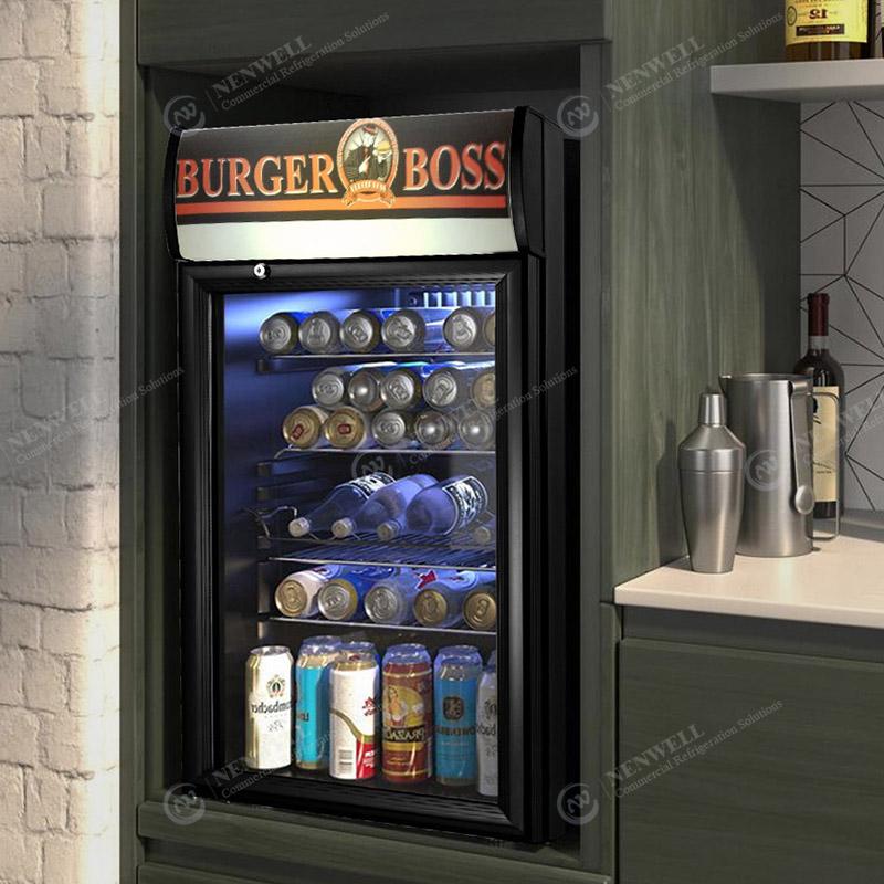 Commercial Beverage And Food Countertop Prep Display Cooler Fridge Case