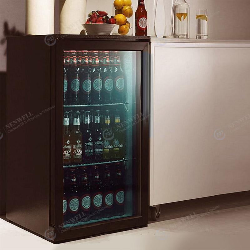 Commercial Mini Beer And Drink Glass Door Countertop Display Coolers And Refrigerators