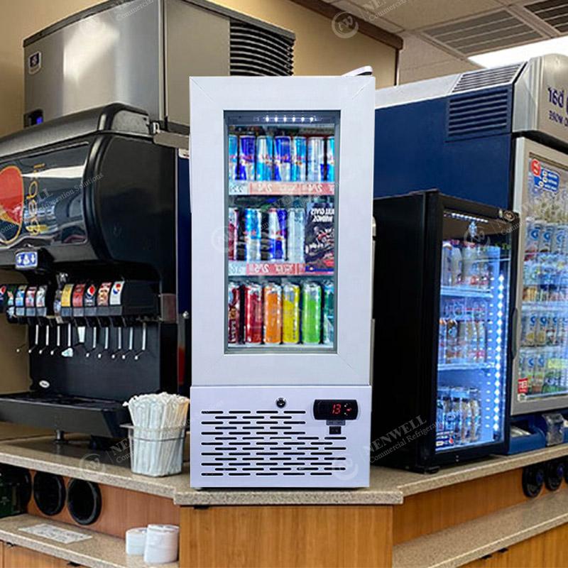 Commercial Small Ice Cream Glass Door Counter Top Display Freezers