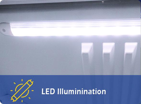 LED Illumination   NW-SD21B Counter Top Ice Cream Freezer