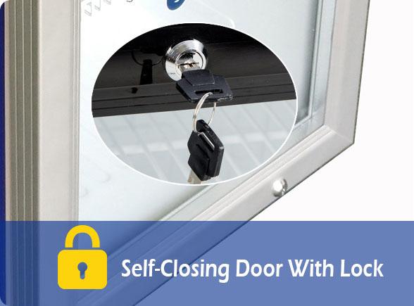 Self-Closing Door With Lock   NW-SD21B Counter Top Display Freezer