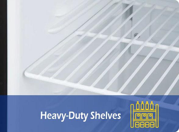 Heavy-Duty Shelves | NW-SD55 Counter Table Top Mini Freezer