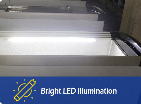 Bright LED Illumination | NW-WD150 chest display freezer