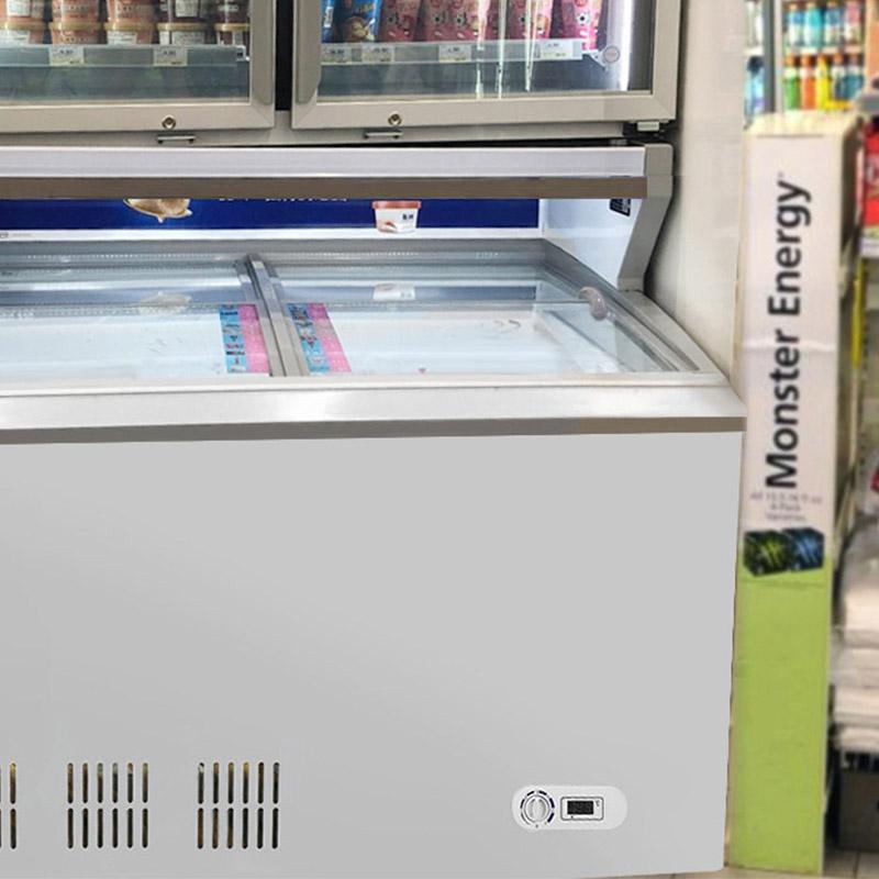 Commercial Glass Door Top Display Deep Chest Freezers And Fridges