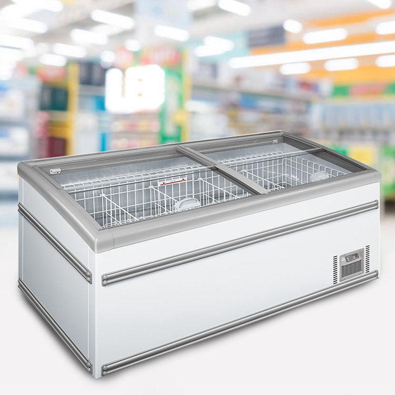Grocery Store Plug-In Deep Freeze Storage Island Display Freezer