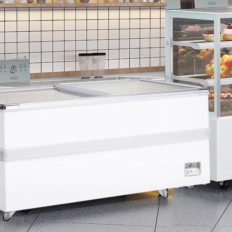 Ice Cream Chest Display Freezer With Sliding Glass Lid