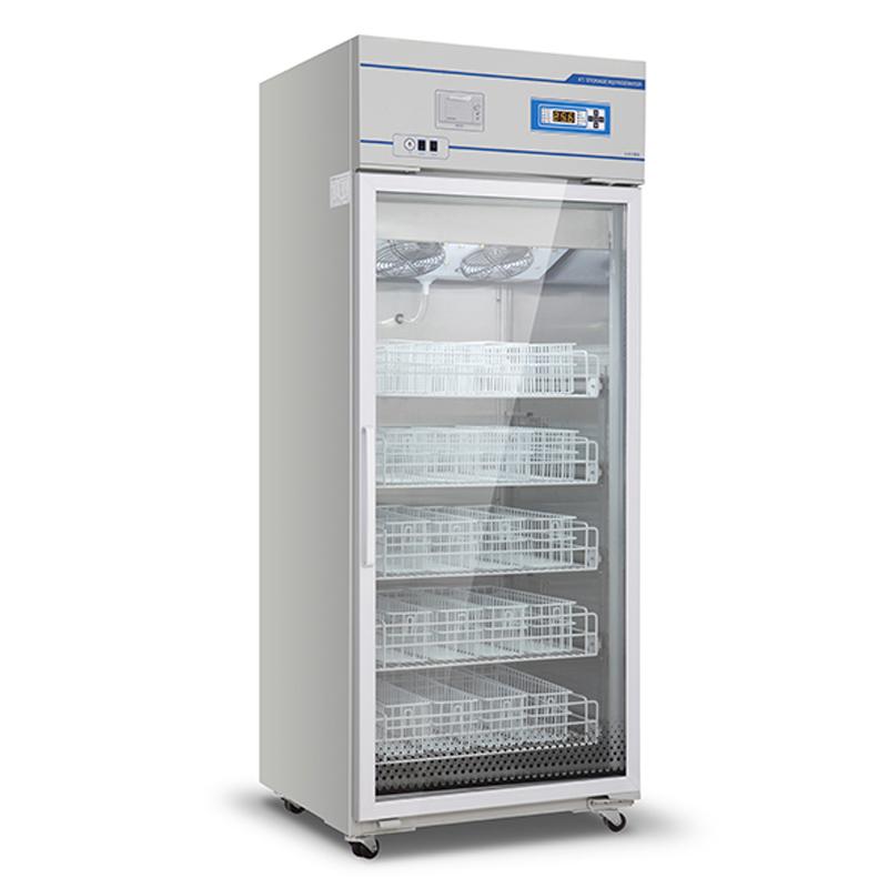 2ºC~6ºC Upright Glass Door Medical Blood Bank Refrigeration Equipment