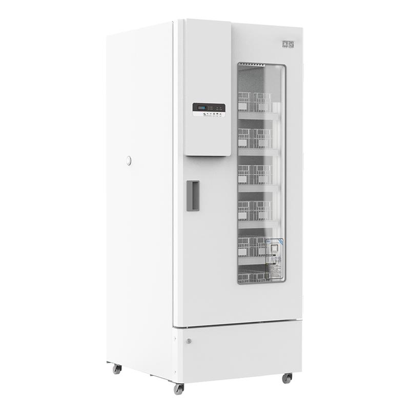2ºC~6ºC Upright Glass Door Blood Bank Plasma Fridge Refrigerator